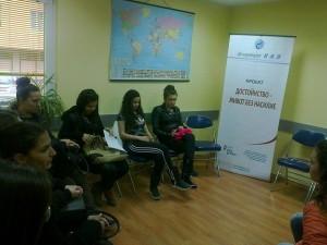 обучение на ученици от ПГТХВТ в град Търговище